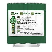 Irish Celtic Wedding Blessing Shower Curtain