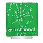 Irish Channel Nola Shower Curtain