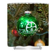 Irish Christmas Shower Curtain