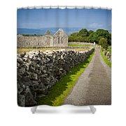 Irish Church Ruins Shower Curtain
