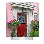 Pink Irish Home Shower Curtain