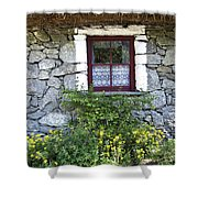 Irish Cottage Window County Clare Ireland Shower Curtain