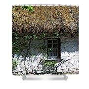Irish Farm Cottage Window County Cork Ireland Shower Curtain