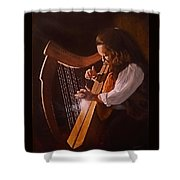 Irish Harp Shower Curtain