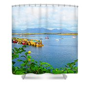 Roundstone Seaport Shower Curtain