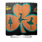 Irish Step Dancers Shower Curtain