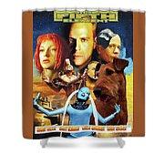 Irish Terrier Art Canvas Print - The Fifth Element Movie Poster Shower Curtain
