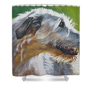 Irish Wolfhound Beauty Shower Curtain