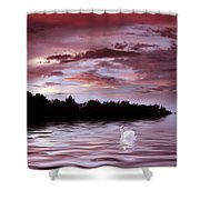 Sunset Swim Shower Curtain