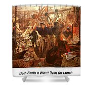 Iron And Coal Shower Curtain