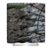 Iron And Rocks Shower Curtain