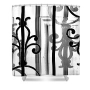 Iron And Shadow Shower Curtain