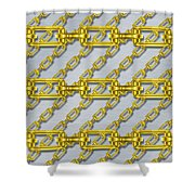 Iron Chains With Brushed Metal Seamless Texture Shower Curtain