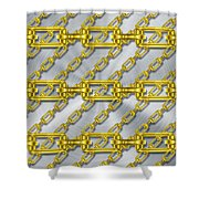 Iron Chains With Brushed Metal Texture Shower Curtain