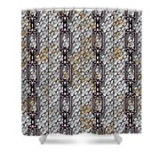 Iron Chains With Metal Panels Seamless Texture Shower Curtain