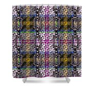 Iron Chains With Tartan Seamless Texture Shower Curtain