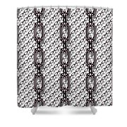 Iron Chains With White Background Seamless Texture Shower Curtain