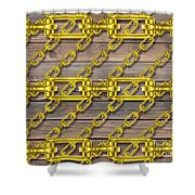 Iron Chains With Wood Texture Shower Curtain
