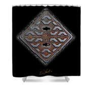 Iron Diamond Shower Curtain