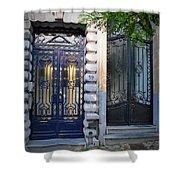 Iron Door Of Brussels Shower Curtain