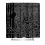 Iron Fence Gate Shower Curtain