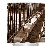 Iron Fence With Shadows Shower Curtain
