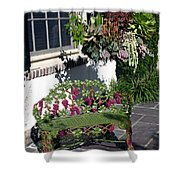 Iron Garden Bench Shower Curtain
