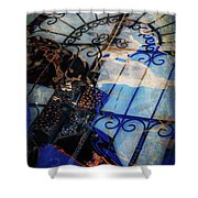 Iron Gate Abstract Shower Curtain