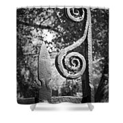 Iron Gate Detail County Clare Ireland Shower Curtain