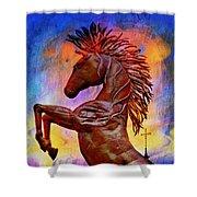 Iron Horse Shower Curtain