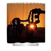 Iron Horse Heart Warming Shower Curtain