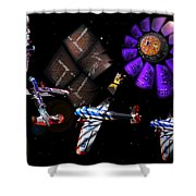 Iron In The Sky Shower Curtain