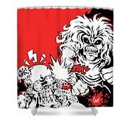 Iron Maiden Vs Megadeth Shower Curtain