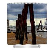 Iron Pillars Shower Curtain