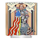 Iron Queen Shower Curtain