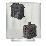 "Iron ""bank"" Bank Shower Curtain"