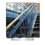 Iron Staircase Shower Curtain