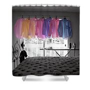 Ironing Adds Color To A Room Shower Curtain