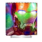 Ironman Abstract Digital Paint 1 Shower Curtain