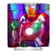 Ironman Abstract Digital Paint 2 Shower Curtain