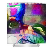 Ironman Abstract Digital Paint 3 Shower Curtain