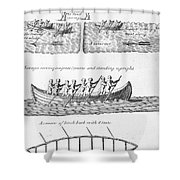Iroquois Canoes Shower Curtain