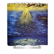 Iroquois Creation Myth Shower Curtain