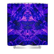 Irradescent Ice Shower Curtain