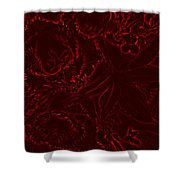 Irridescent Red Shower Curtain
