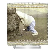 Is Bunny Behind Tree? Shower Curtain