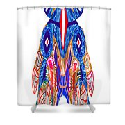 Is That A Head Or A Hat ??  Alien Fineart Graphic Whimsical Rohrshoc Abstract By Navinjoshi Shower Curtain