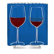 Is The Glass Half Empty Or Half Full Shower Curtain by Frank Tschakert
