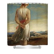 Isaac Going Forth To Meditate Shower Curtain