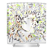 Isaac Newton Shower Curtain